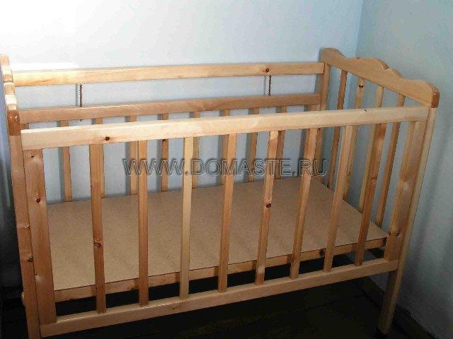 Детская кроватка своими руками из дерева фото