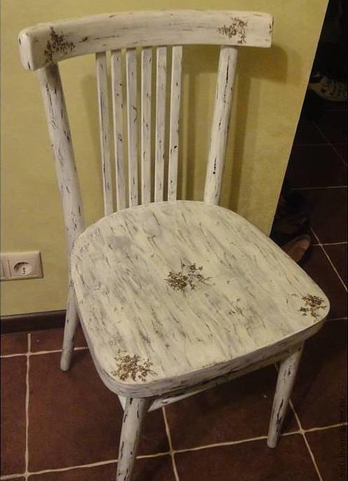 Декор стульев под старину своими руками
