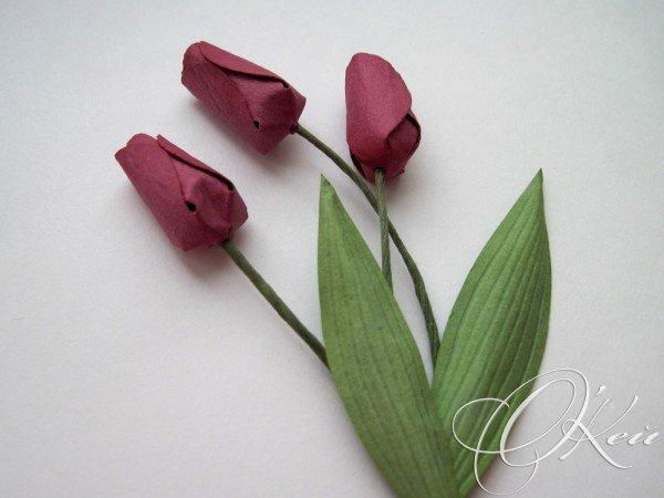 цветы из бумаги тюльпаны схема
