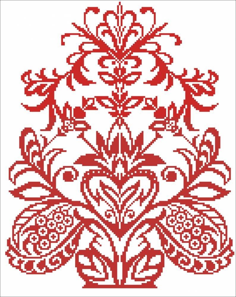 Вышивка на полотенце древа жизни