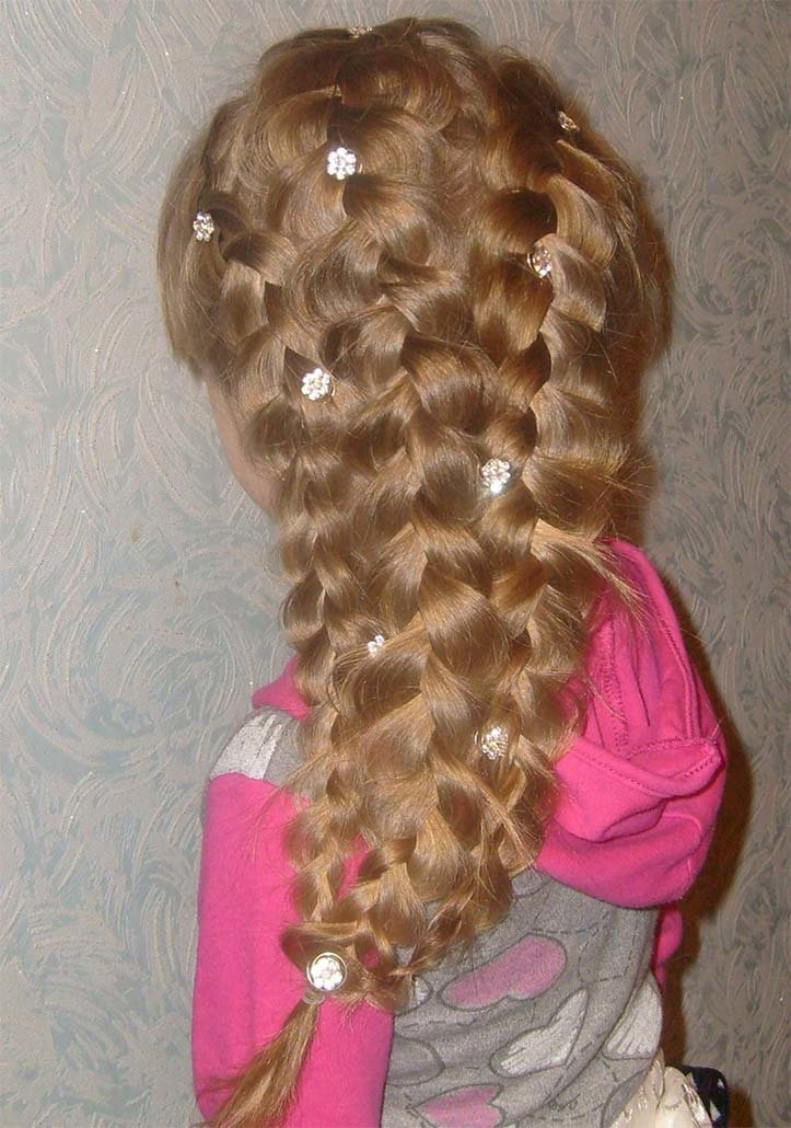 Косички прически из плетение кос