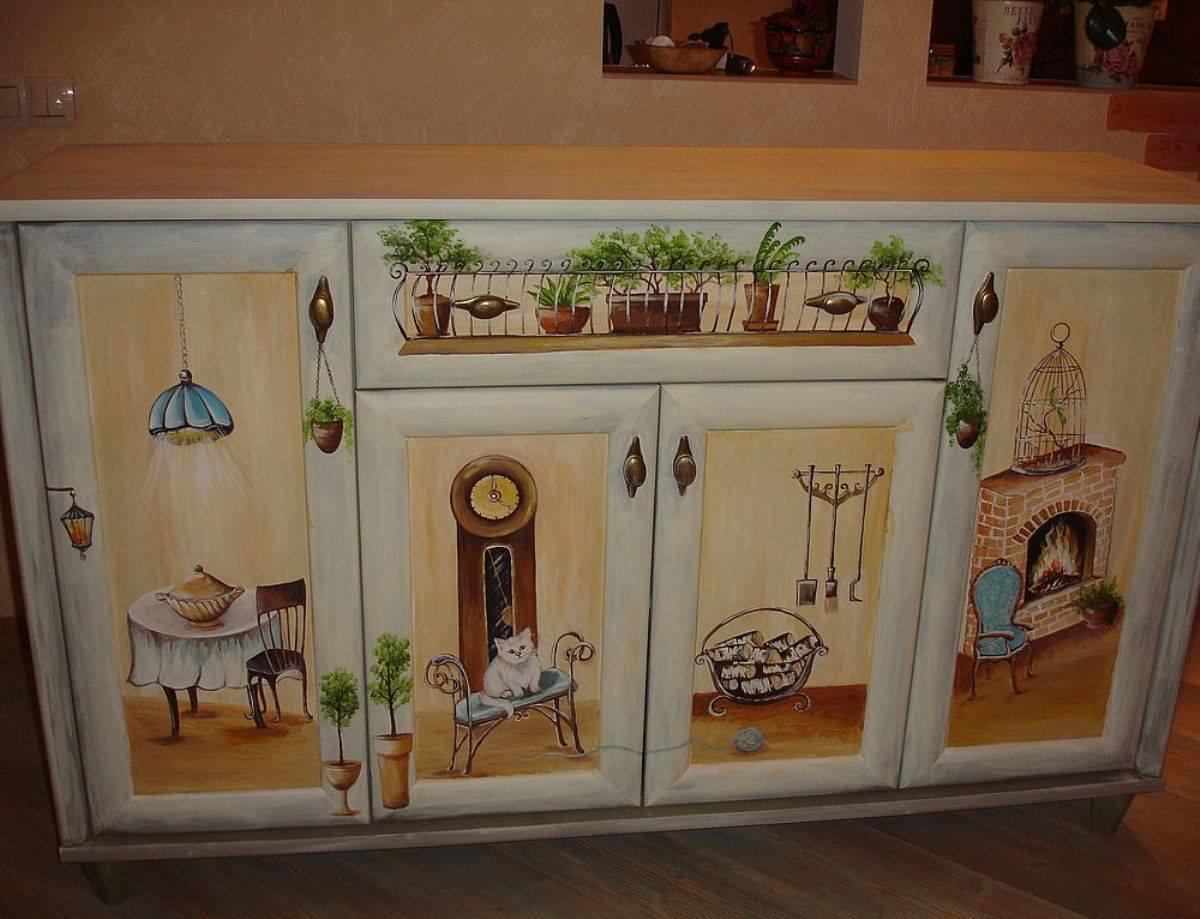Декор кухонного шкафа своими руками 788