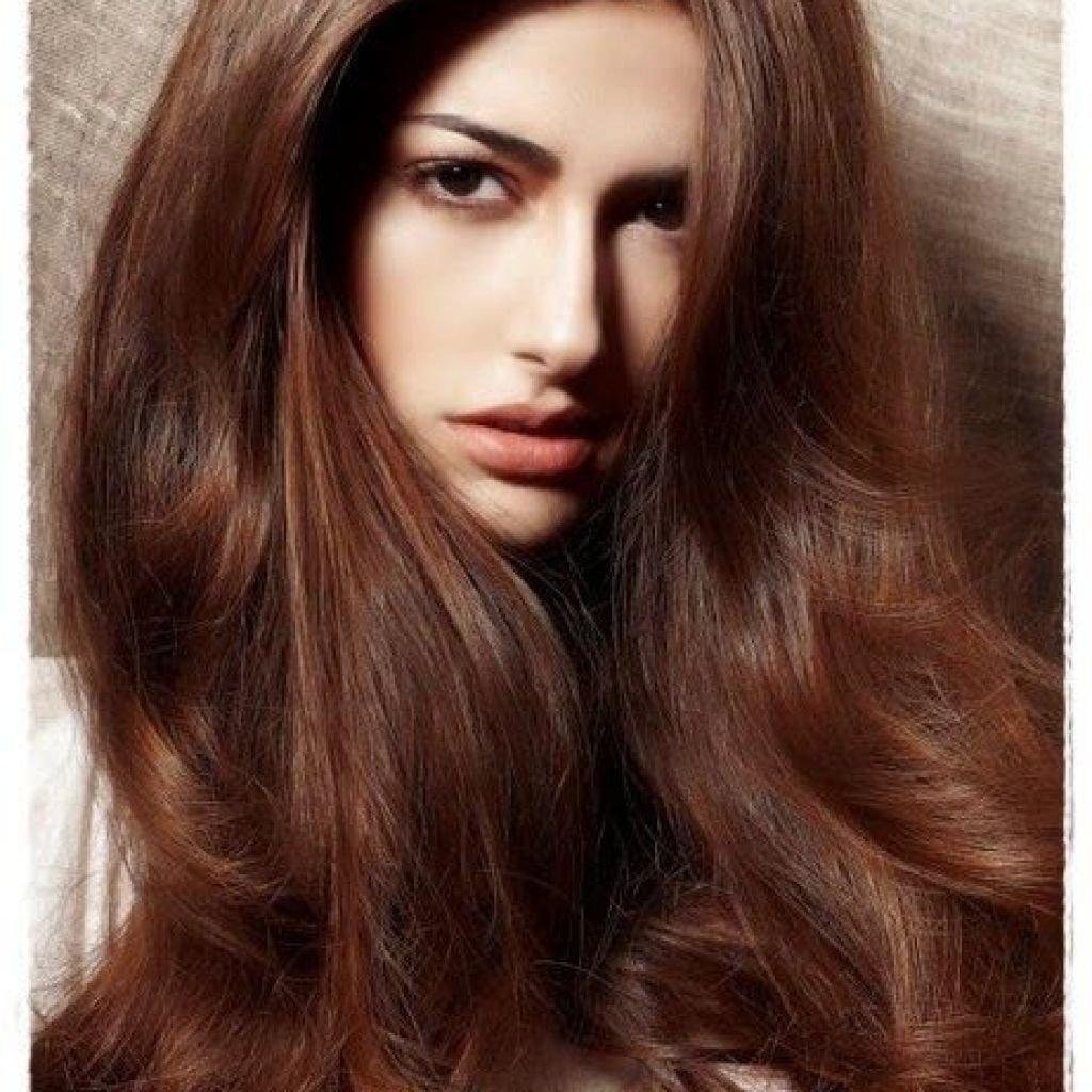 Фото цвета волос темно коричневый