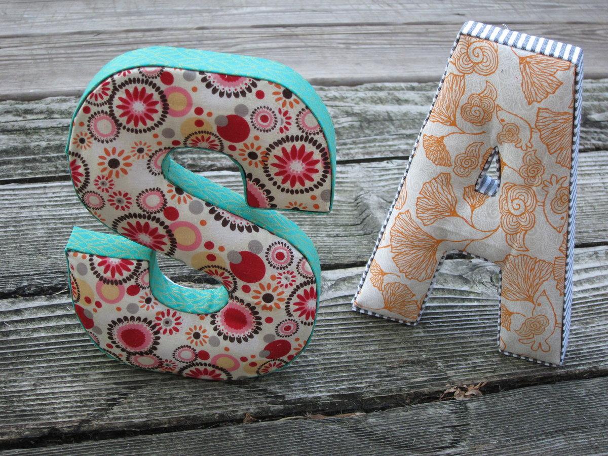 Как сшить объемные буквы из ткани своими руками