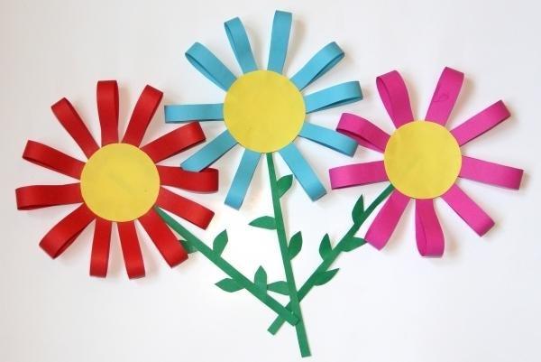 Картинки аппликация цветов своими руками для детей
