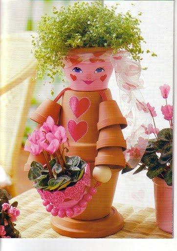 Человечки для цветов своими руками