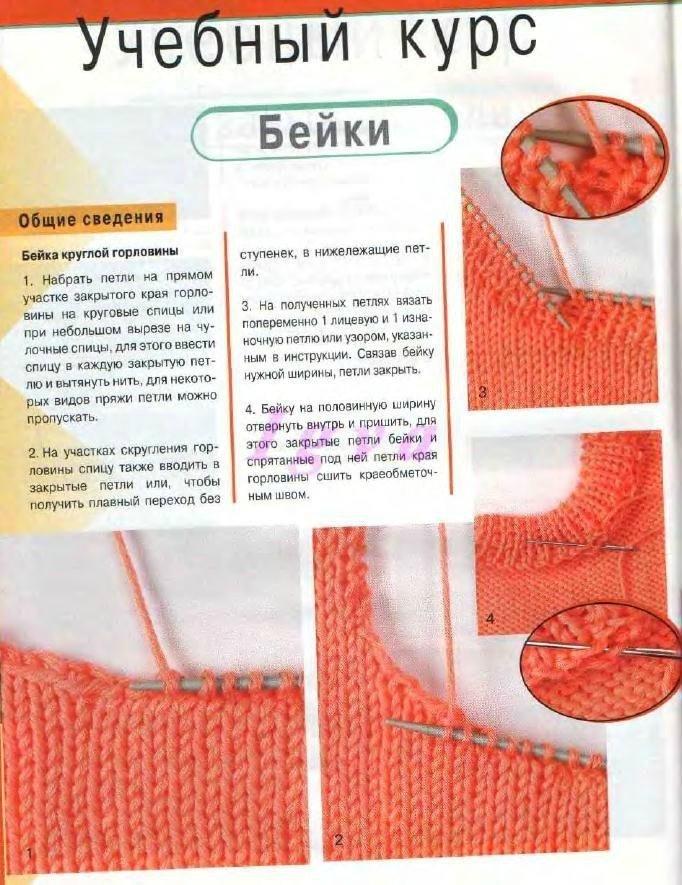 Простой способ вязания горловины спицами