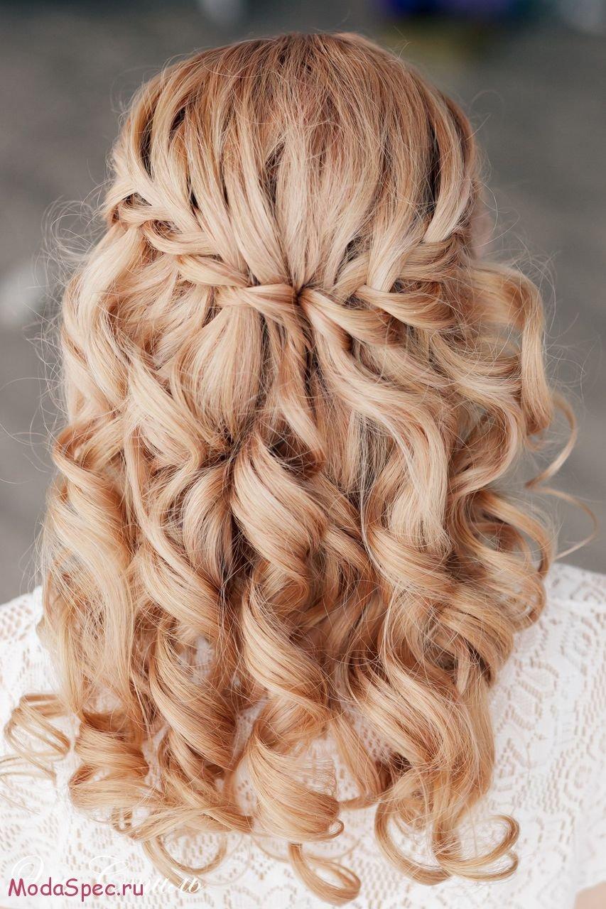 Причёски с плетением водопад