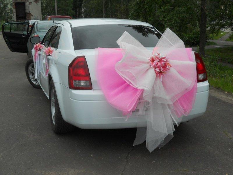 Бантики для машины на свадьбу своими руками 4