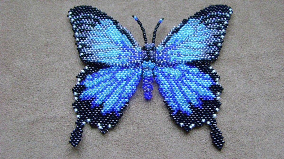 Как сделать бабочку из бисера: плетение с пошаговым фото