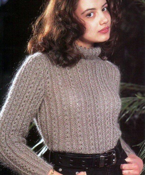 Вязание из мохера свитеров 732