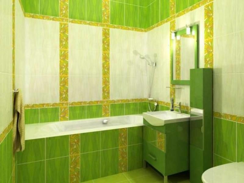 Зеленая ванная комната  № 2278686 загрузить