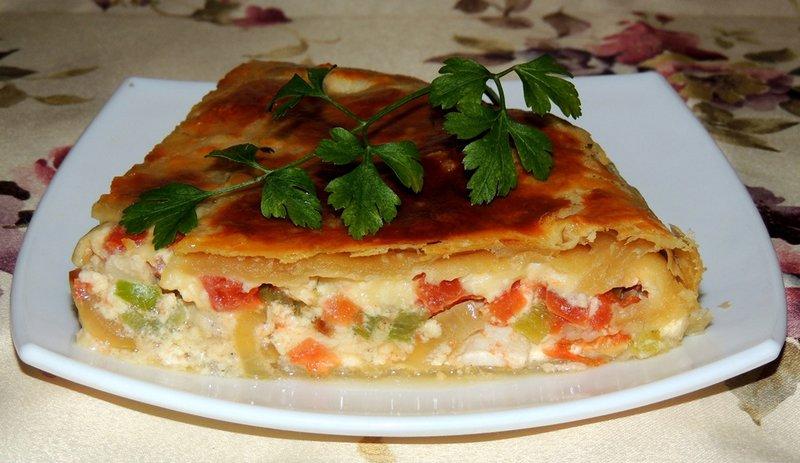 Пироги с овощами рецепты с