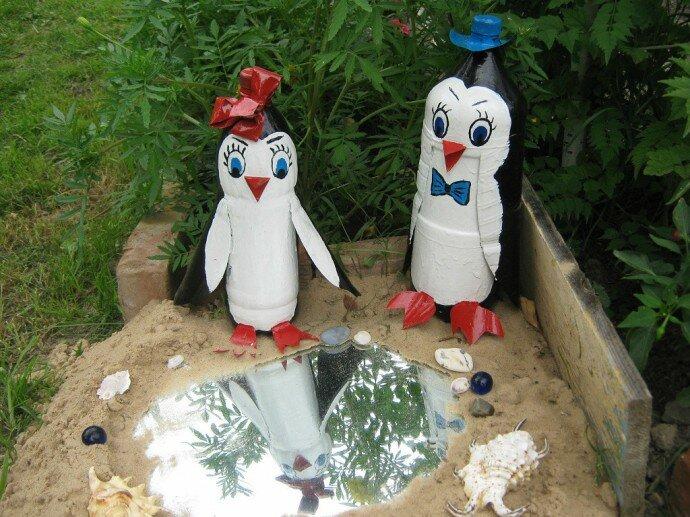 Украсить двор своими руками из пластиковых бутылок