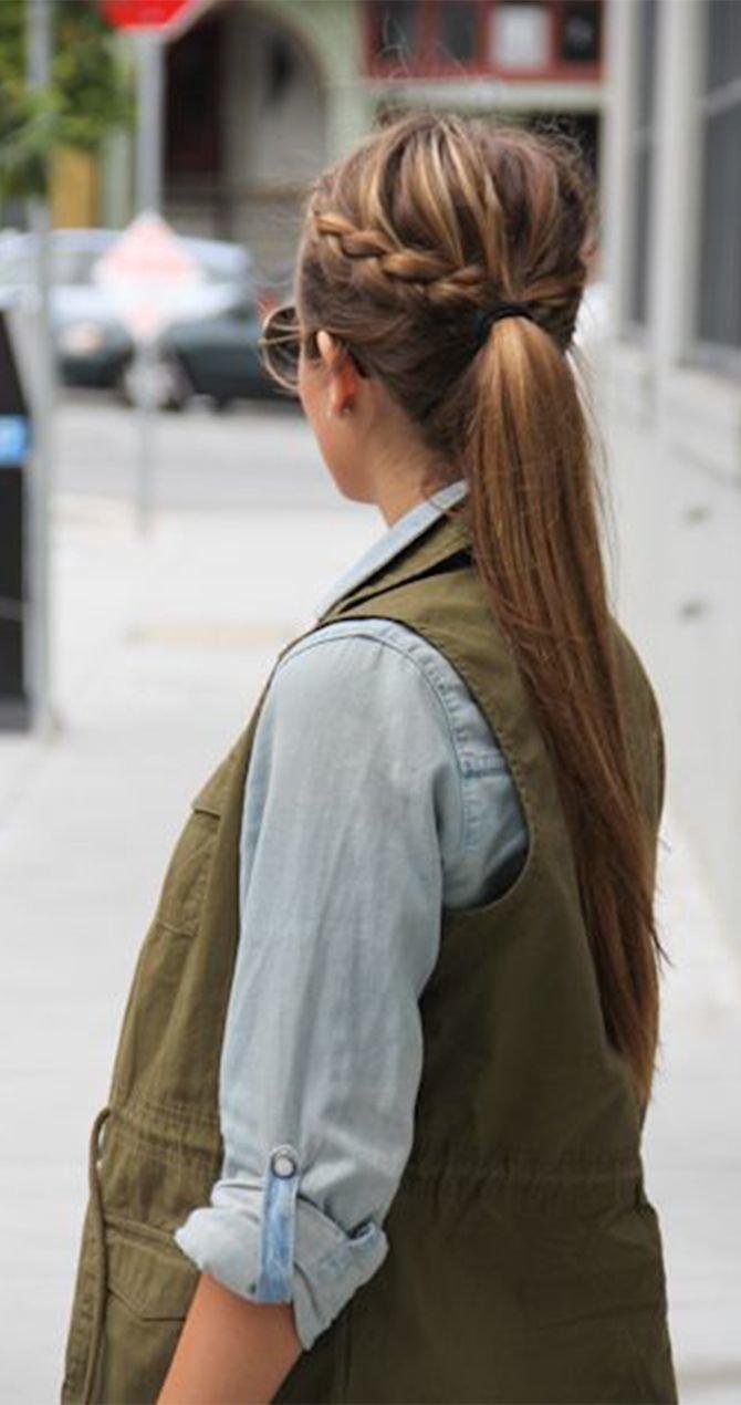 Прическа в офис на длинные волосы на каждый день