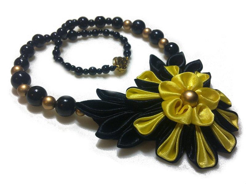 Ожерелье своими руками канзаши 60