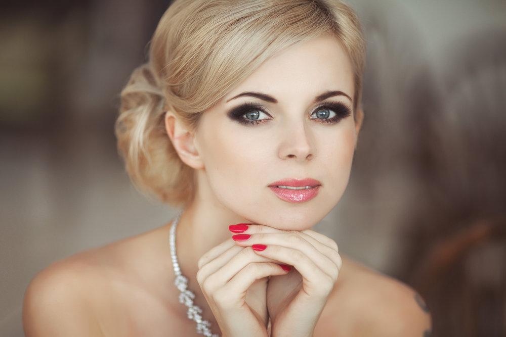 Свадебный макияж для блондинок с фото 47