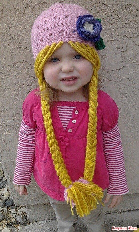Связать своими руками шапку для девочки 91