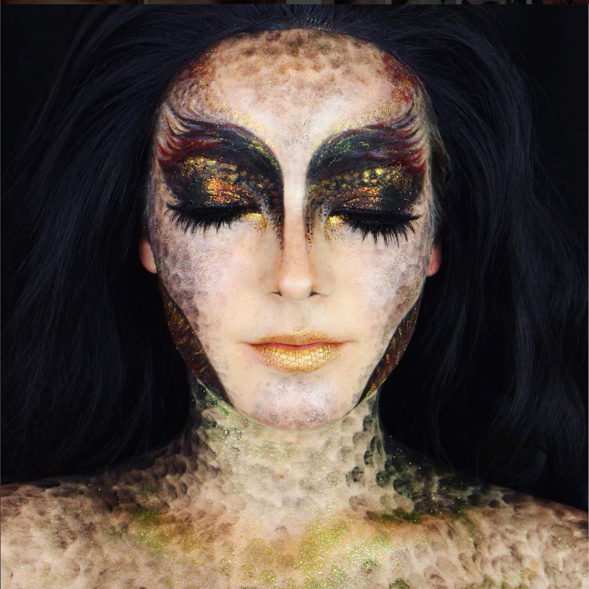 Макияж на лице хэллоуин красиво