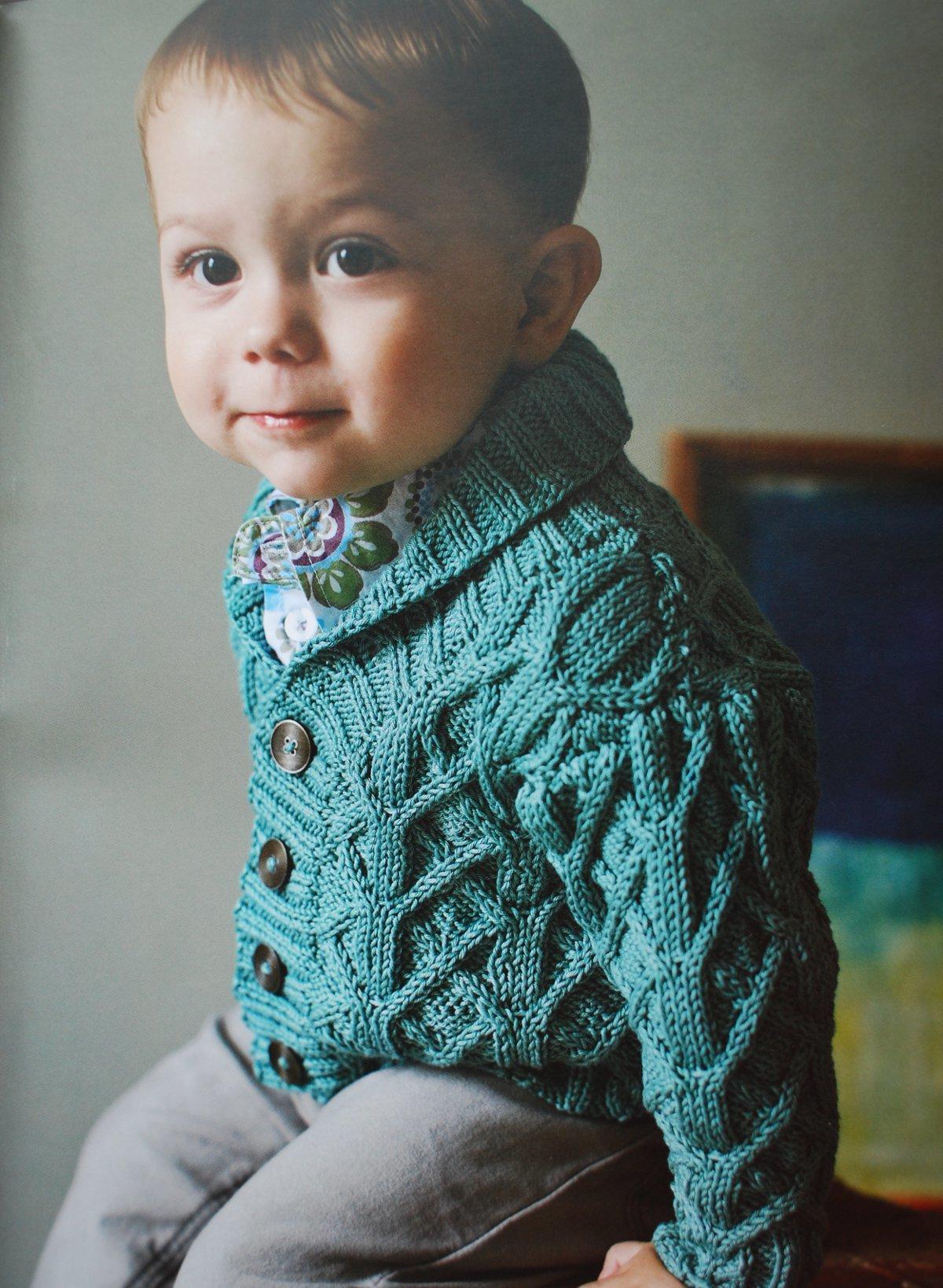 Вязание жакетов для мальчиков