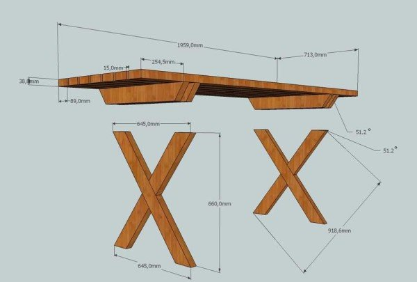 Проект столика из дерева своими руками