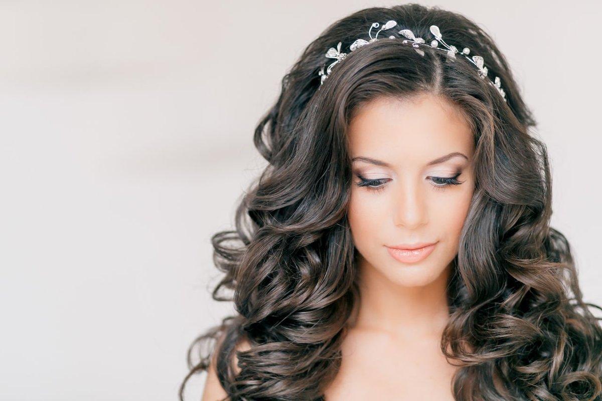 Голливудские локоны фото на длинные волосы с челкой женские