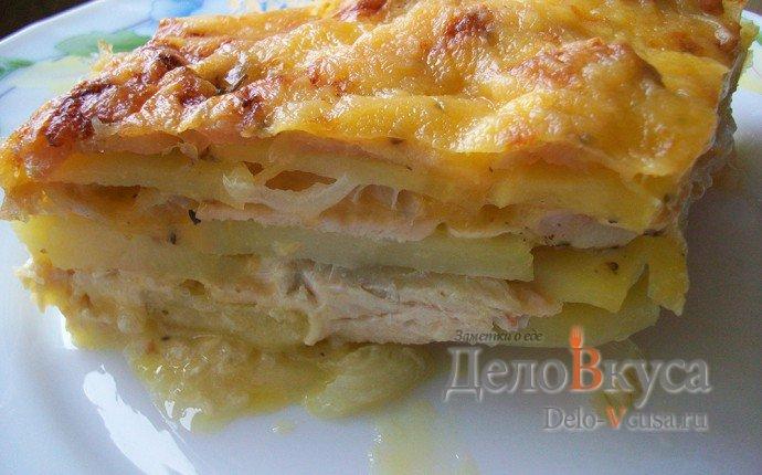 Запеканка с курицей в духовке рецепт с пошаговый