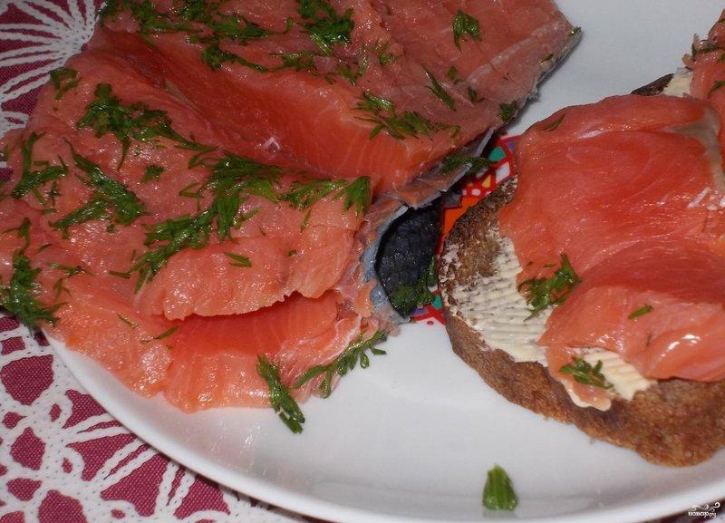 Слабосоленый лосось в домашних условиях рецепт