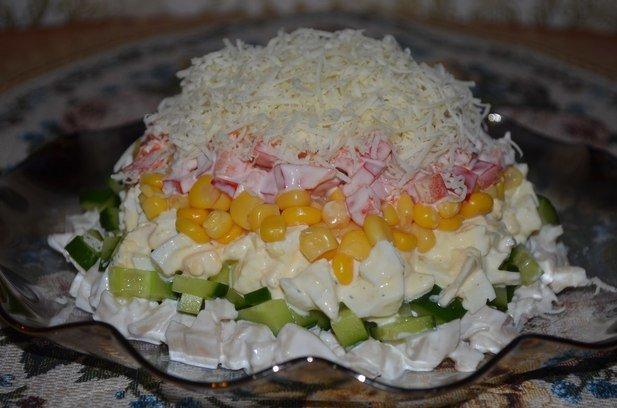 Салат из кальмаров с яйцом рецепт с очень вкусный