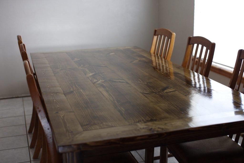 Самодельный кухонный стол из дерева своими руками 57