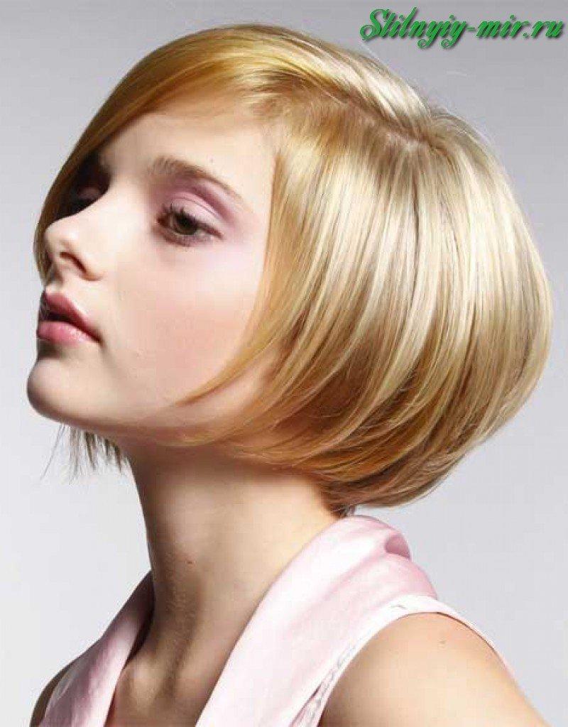 Прическа боб на короткий волос фото