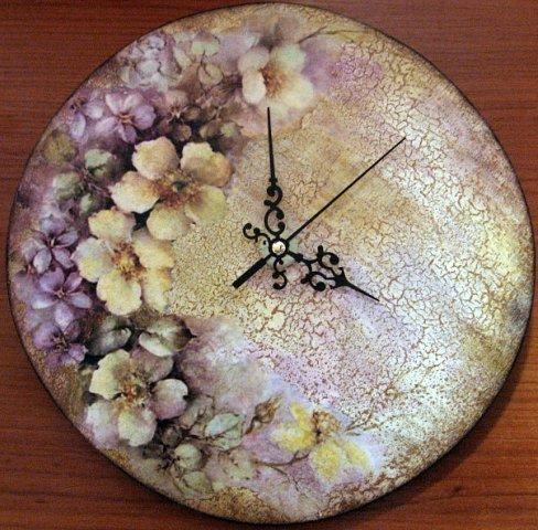 Тарелка часы своими руками