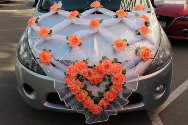 Как украсить капот машины на свадьбу своими руками 64
