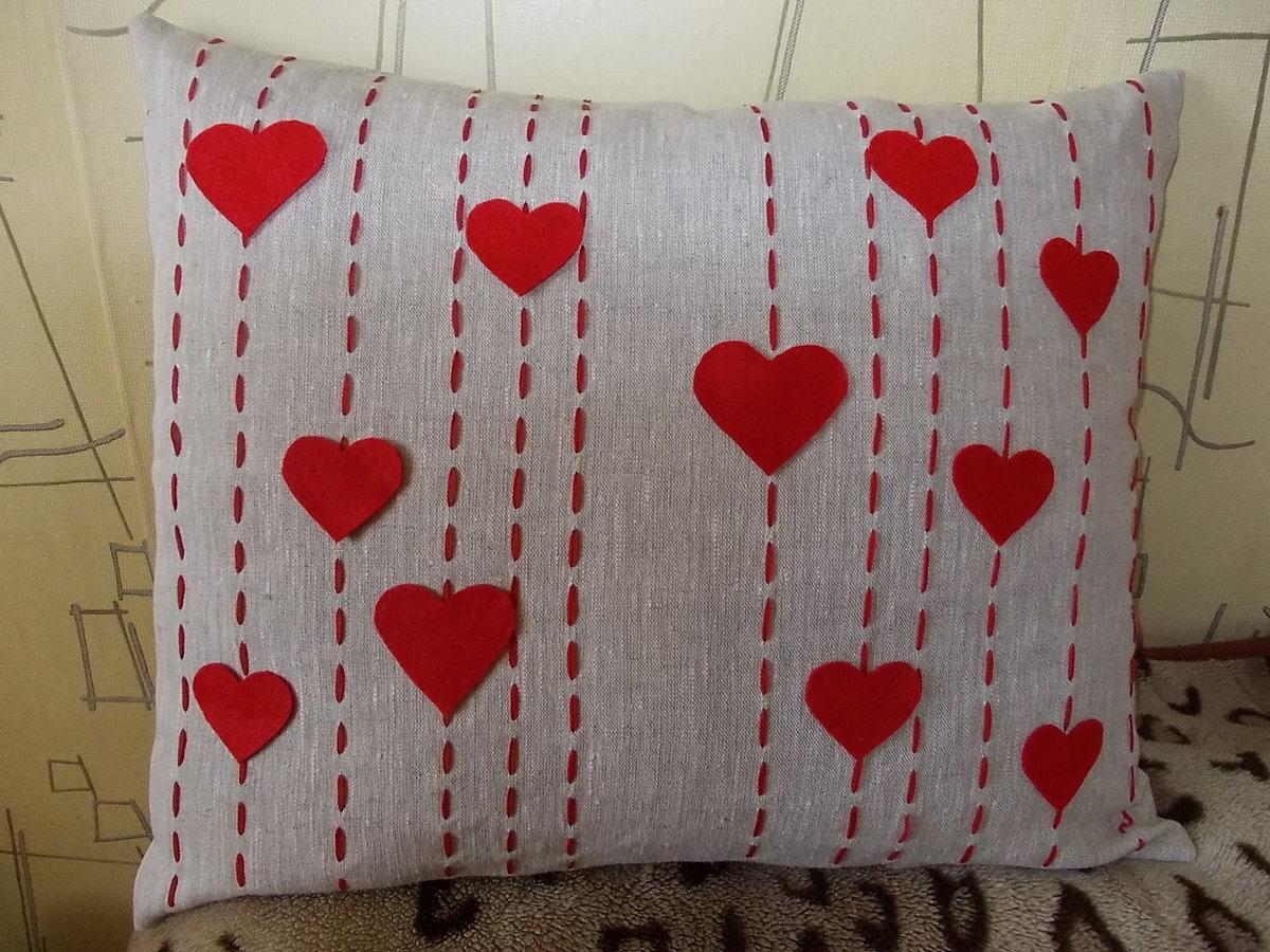 Подушка сердечки своими руками 65