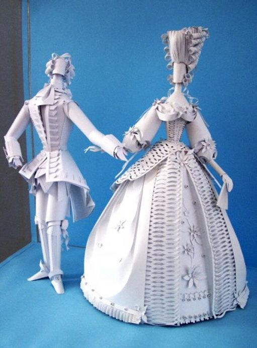 Объемные куклы из картона своими руками 11