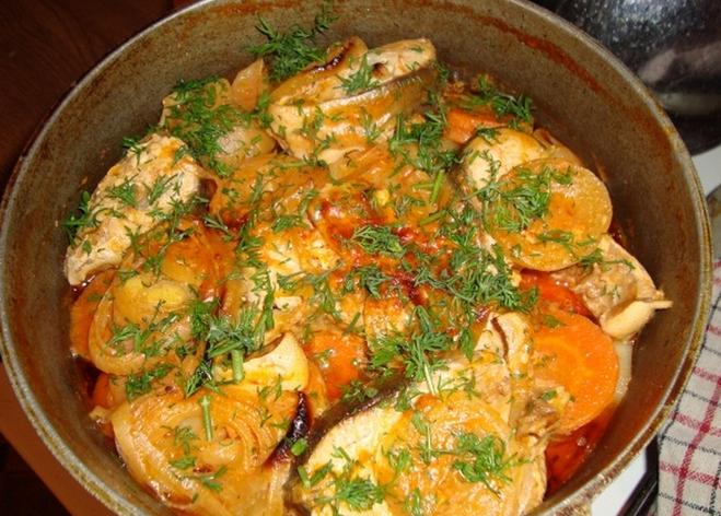 Запеченная рыба с овощами в мультиварке рецепты с фото