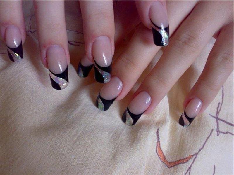 Фото нарощенных ногтей белые
