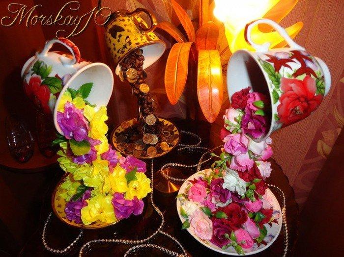 Цветы падающие из кружки своими руками 78