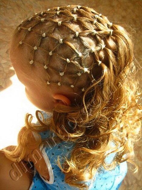 Причёски для девочек для нового года