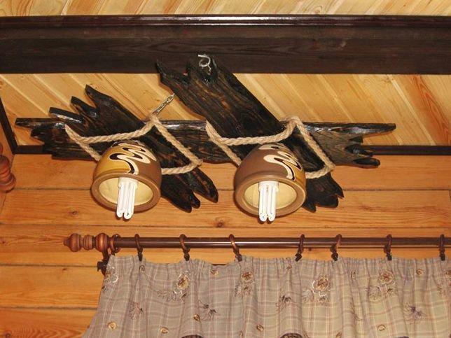 Как сделать люстру в домашних условиях из дерева