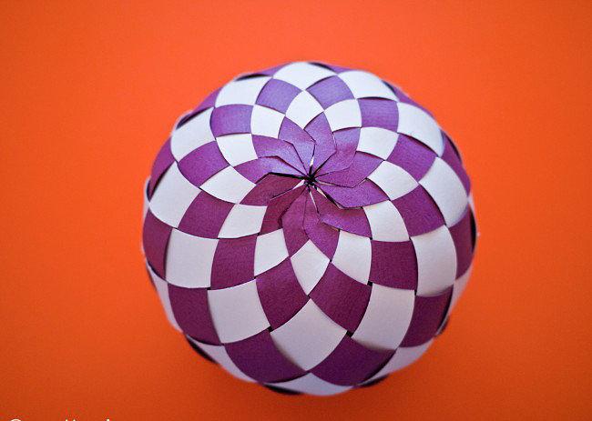 Как сделать шар из бумаги в картинках 19