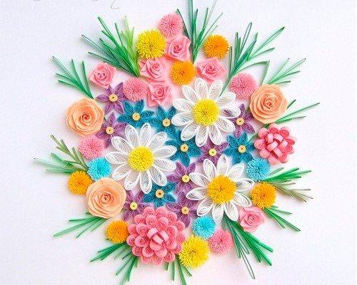 Цветы из квиллинга схемы