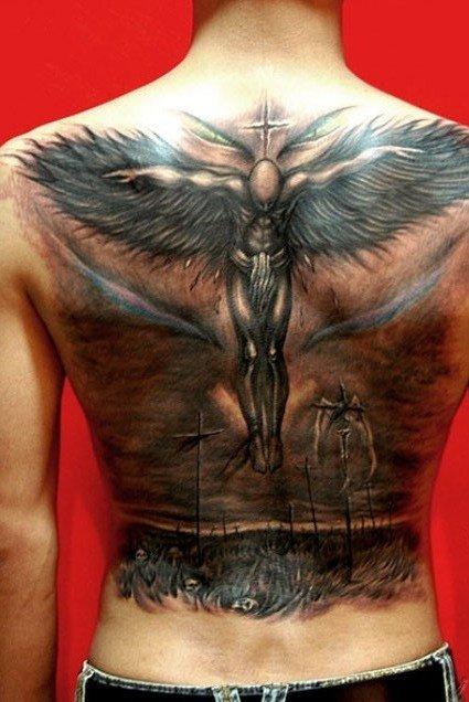 Тату ангела на спине что это значит