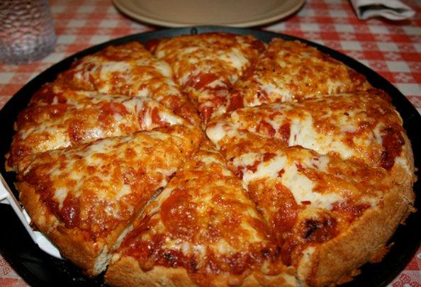 Легкая пицца в домашних условиях на сковороде