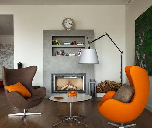 Кресло в интерьере гостиной фото