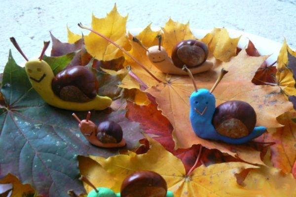 Поделки из каштанов на тему осень своими руками 46