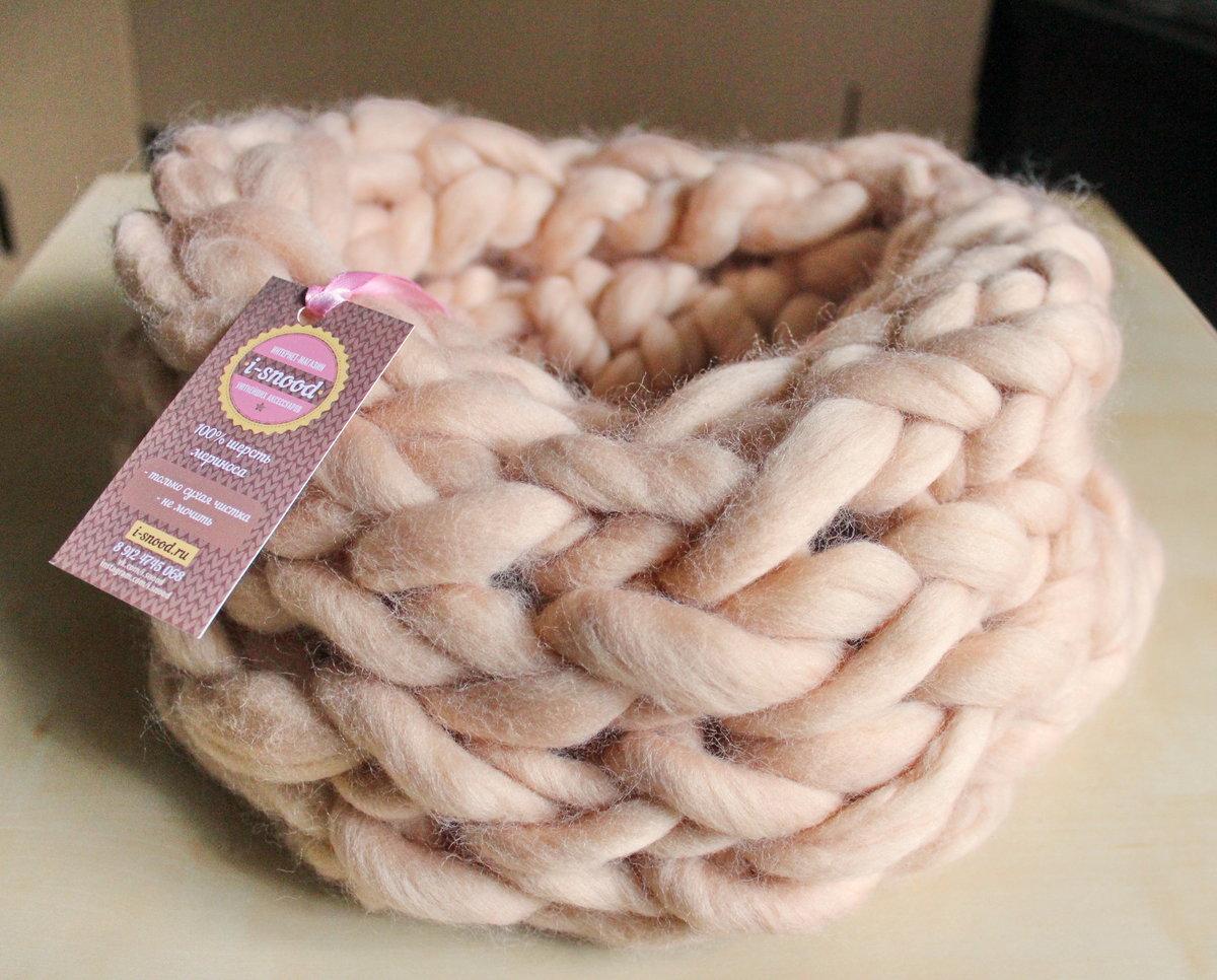 Самая толстая пряжа для вязания руками 35