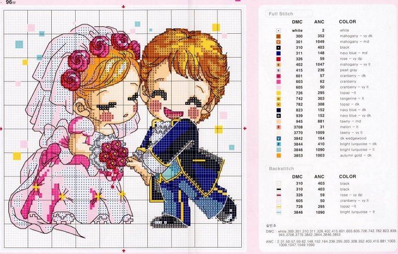 Схемы крестом к свадьбе
