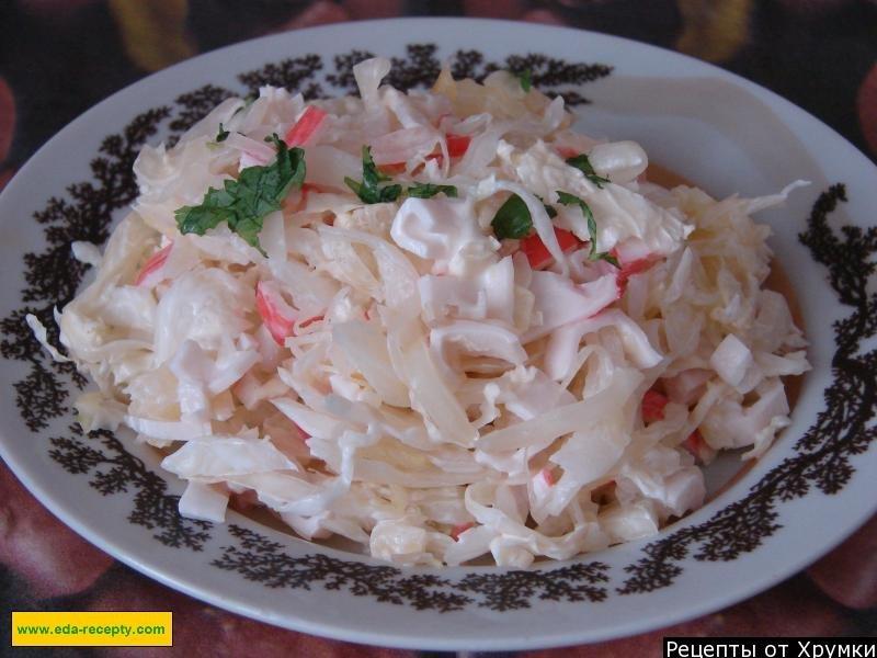 Салат с крабовыми палочками и ананасами рецепт пошаговый