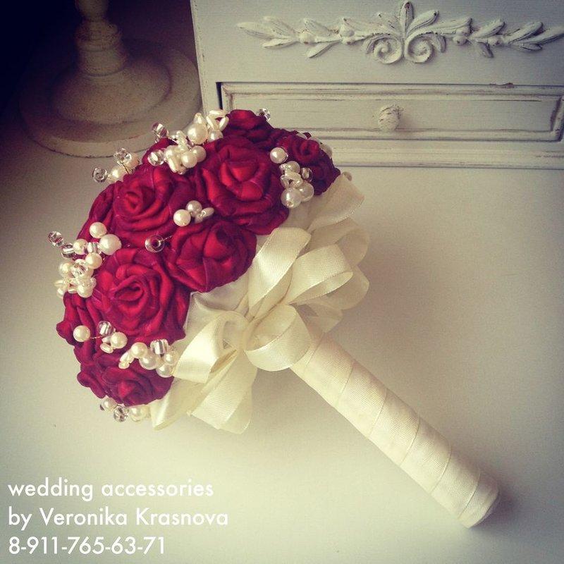 Букеты своими руками для невесты из лент
